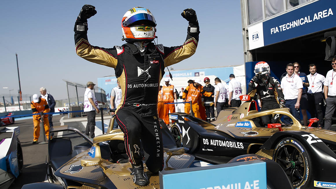CIRCUIT INTERNATIONAL AUTOMOBILE MOULAY EL HASSAN MARRAKESH, MOROCCO - FEBRUARY 29: Antonio Felix da Costa (PRT), DS Techeetah, DS E-Tense FE20, 1st position during the Marrakesh E-prix at Circuit International Automobile Moulay El Hassan Marrakesh on February 29, 2020 in Circuit International Automobile Moulay El Hassan Marrakesh, Morocco. (Photo by Andrew Ferraro / LAT Images)